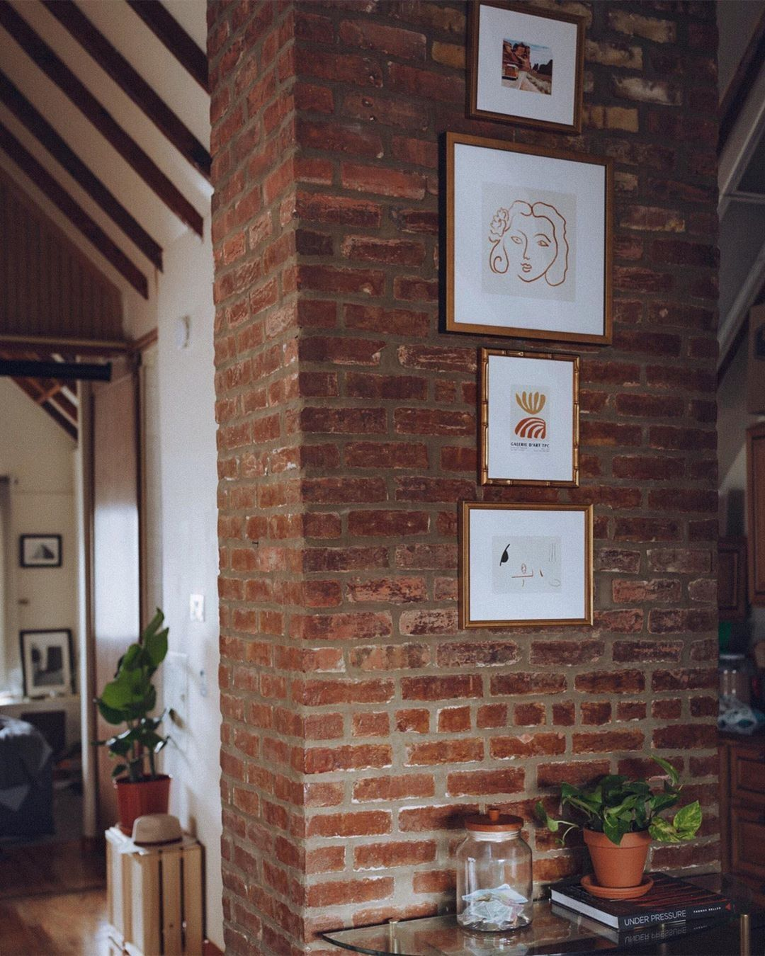 How to Hang Frames on Brick