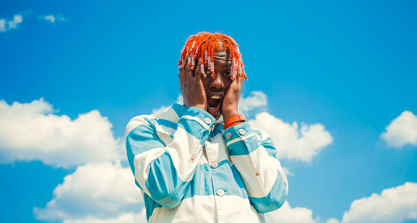 Lil yachty putting his hands on his face