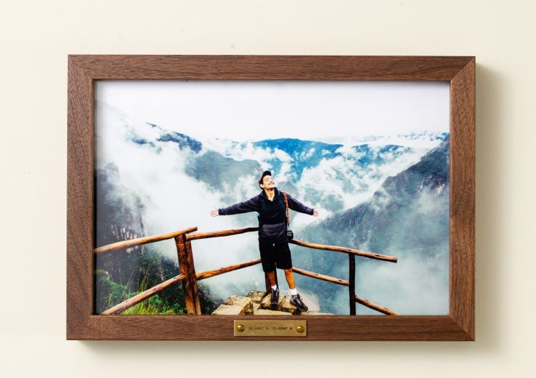 Personalized wood frame with photo from Yosemite
