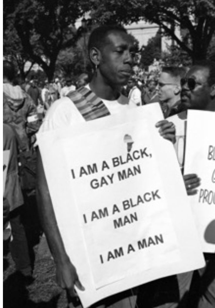 Man at Million Man March holding sign