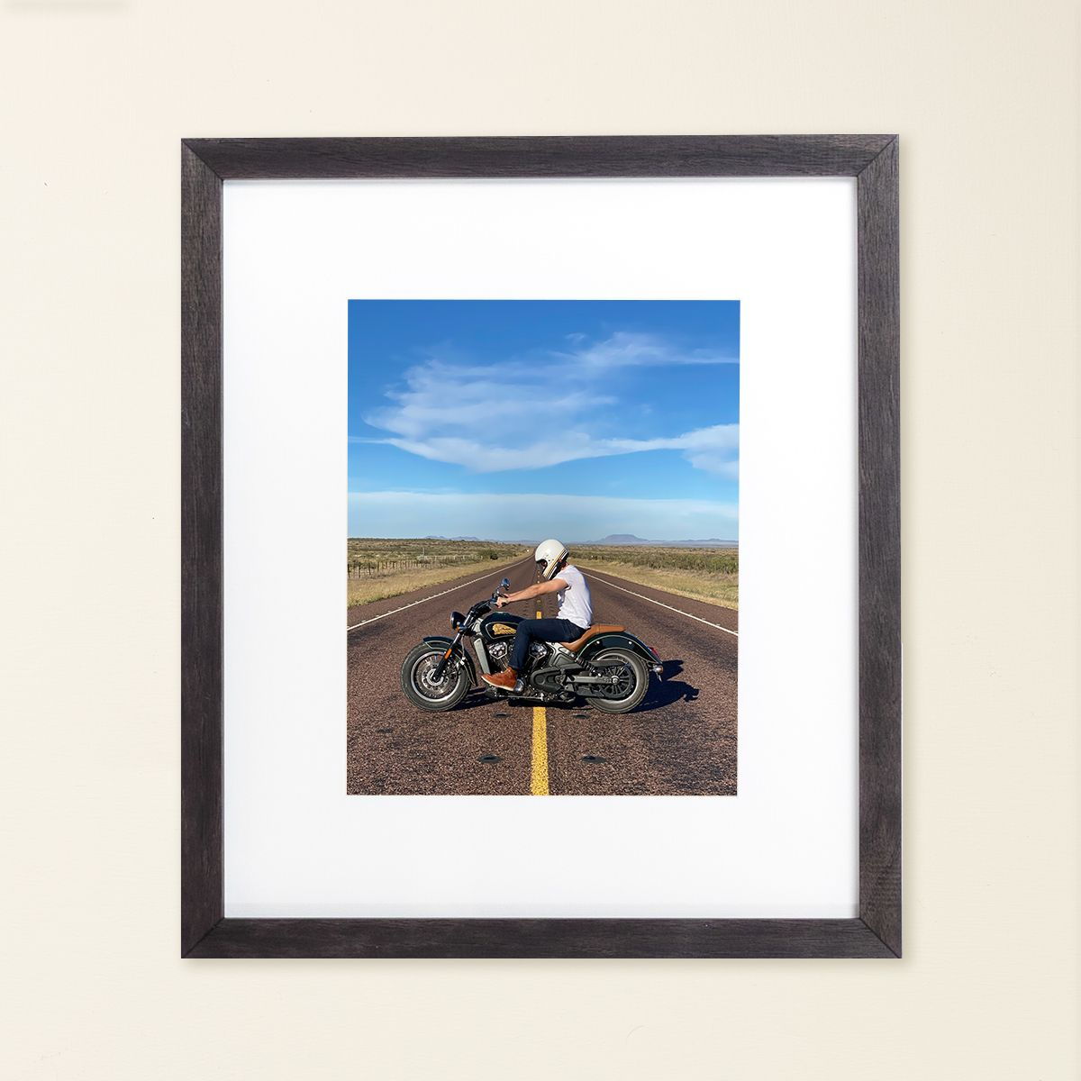 motorcycle on highway in the american west